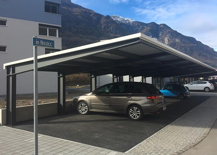 Curvotecnica tettoie auto - Tettoie in ferro per auto ...